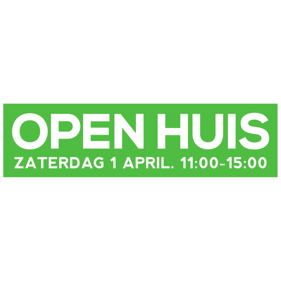 Open Huis Sticker