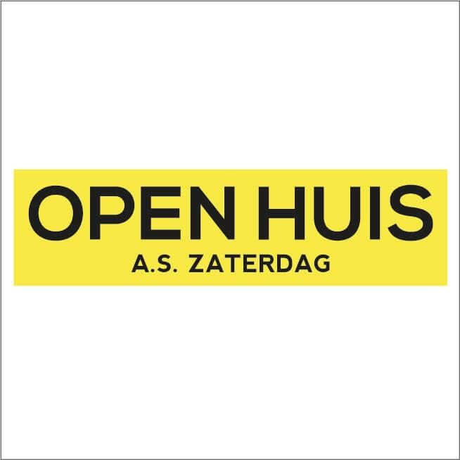 Open Huis Sticker