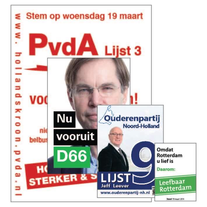 Verkiezingsposters In Diverse Formaten