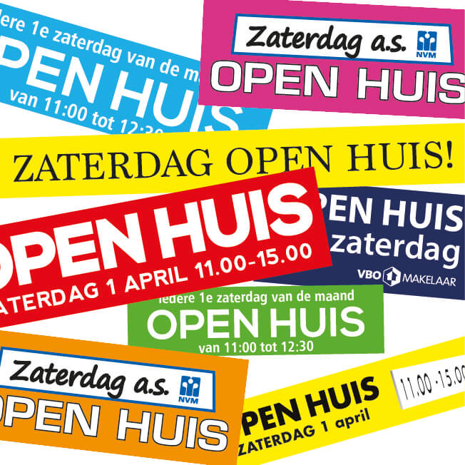open huis stickers op maat