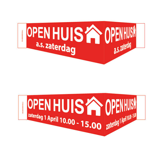 Standaard Open Huis V-bord 100×13