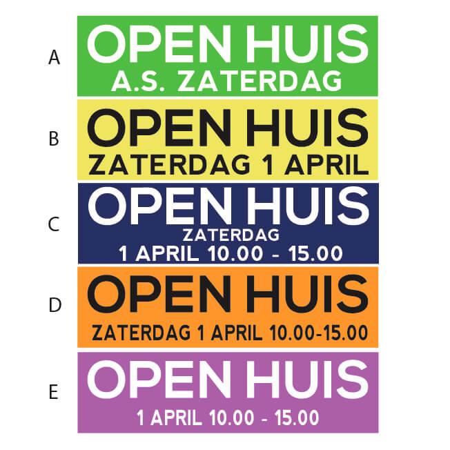 Standaard Open Huis Stickers