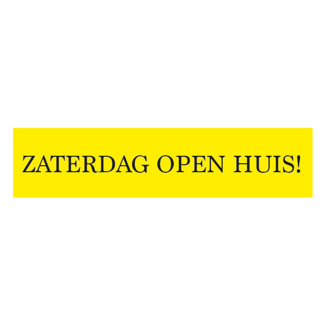 Openhuis Sticker