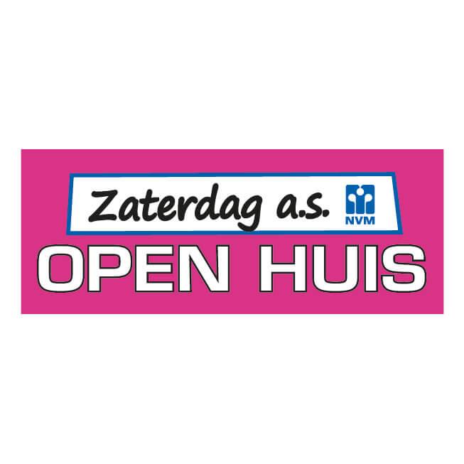 NVM Open Huis Sticker