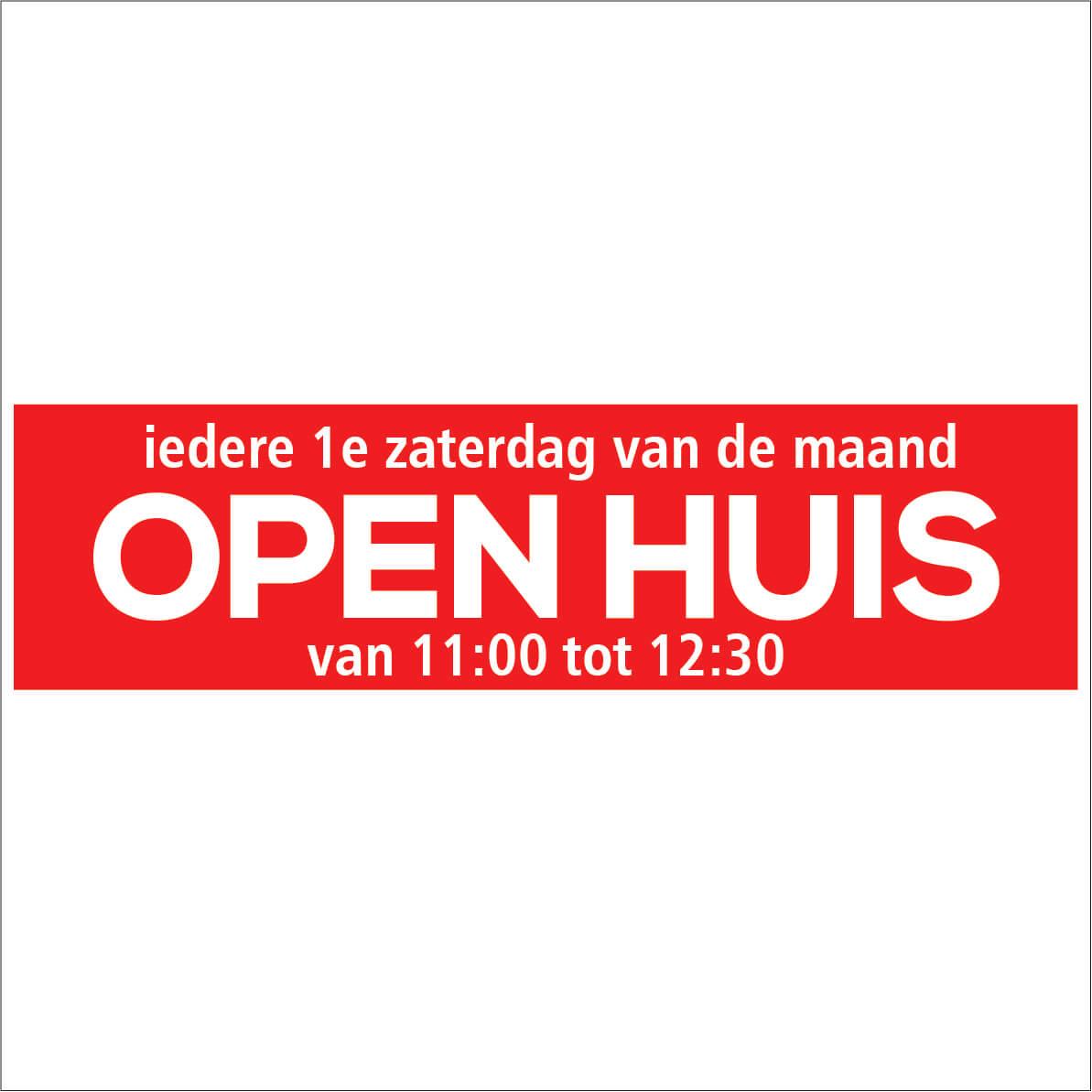 Open Huis Aanstaande Zaterdag Sticker Makelaar