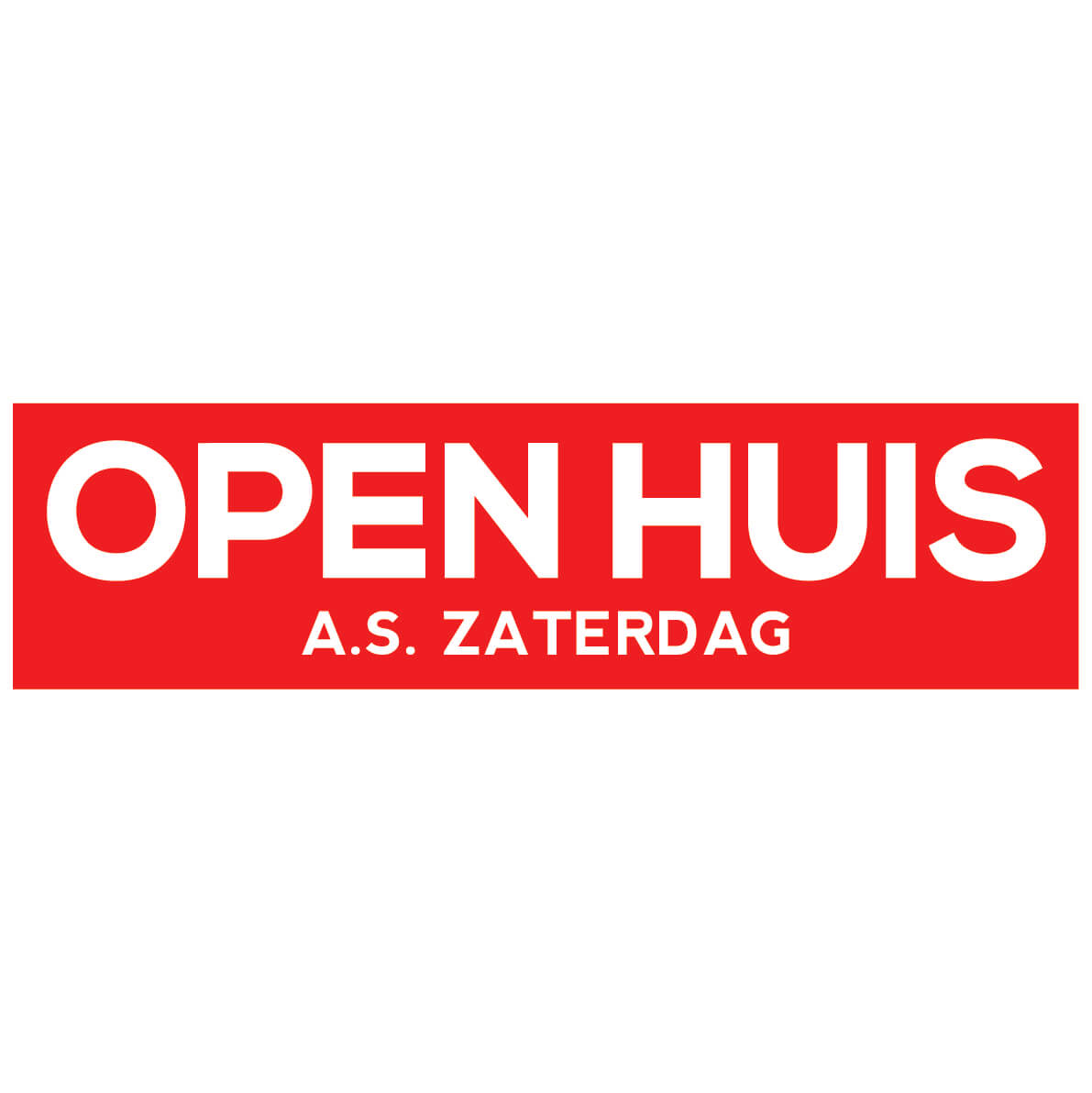Open Huis Sticker Makelaar