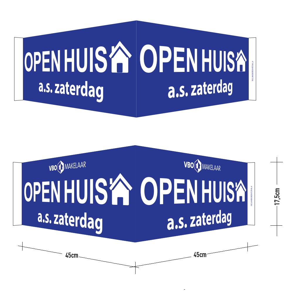 VBO Standaard Open Huis V-bord