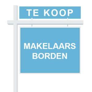 Makelaarsartikelen - Reclameborden Totaal - Alles voor makelaars - makelaarsborden tuinborden