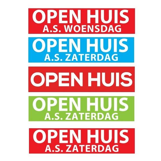open huis stickers