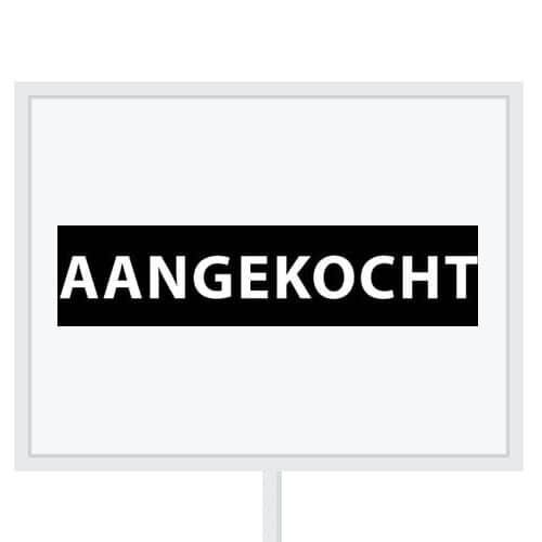 Reclameborden Totaal - makelaarsstickers - stickers voor makelaars - Aangekocht wit zwart