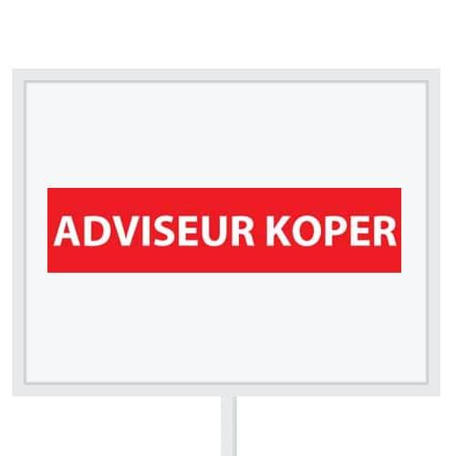 Reclameborden Totaal - makelaarsstickers - stickers voor makelaars - Adviseur koper - wit rood