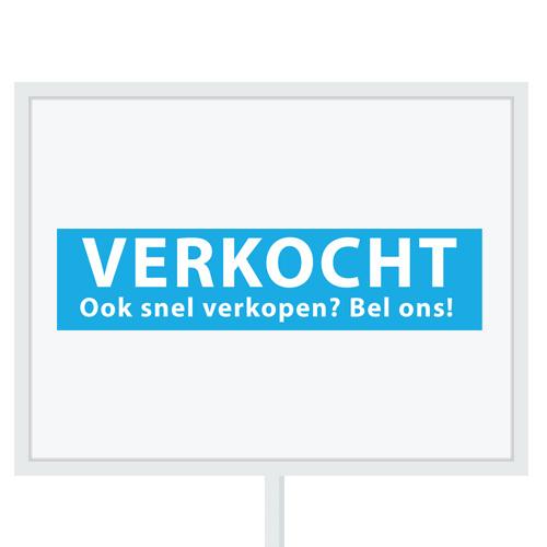 Reclameborden Totaal - makelaarsstickers - stickers voor makelaars - Binnenkort op funda - Verkocht OSVBO - lichtblauw