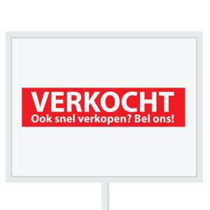 Reclameborden Totaal - makelaarsstickers - stickers voor makelaars - Binnenkort op funda - Verkocht OSVBO - wit rood