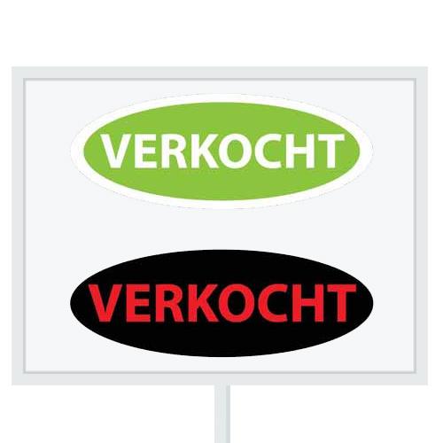 Reclameborden Totaal - makelaarsstickers - stickers voor makelaars - Maatwerk sticker - model B