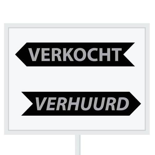 Reclameborden Totaal - makelaarsstickers - stickers voor makelaars - Maatwerk sticker - model K