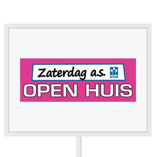 Reclameborden Totaal - makelaarsstickers - stickers voor makelaars - NVM open huizen dag - aanstaande zaterdag