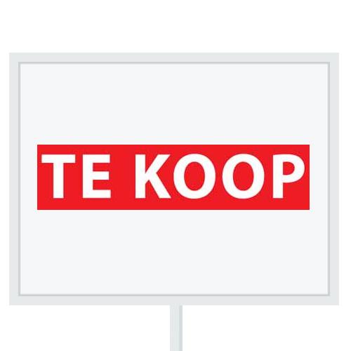 Reclameborden Totaal - makelaarsstickers - stickers voor makelaars - Te koop - wit rood