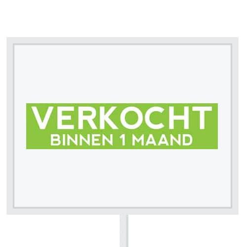 Reclameborden Totaal - makelaarsstickers - stickers voor makelaars - Verkocht binnen 1 maand - wit groen