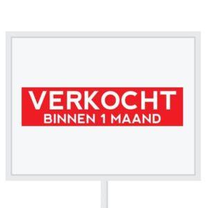 Reclameborden Totaal - makelaarsstickers - stickers voor makelaars - Verkocht binnen 1 maand - wit rood