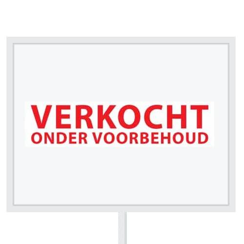 Reclameborden Totaal - makelaarsstickers - stickers voor makelaars - Verkocht onder voorbehoud - rood wit