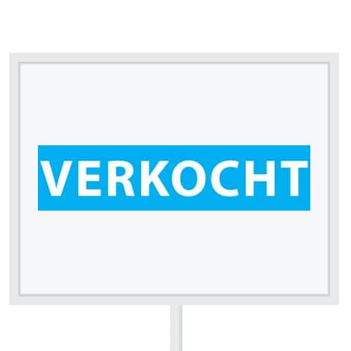Reclameborden Totaal - makelaarsstickers - stickers voor makelaars - Verkocht - wit licht blauw