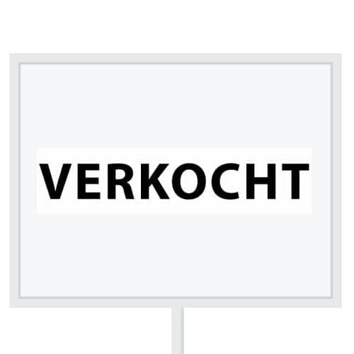 Reclameborden Totaal - makelaarsstickers - stickers voor makelaars - Verkocht - zwart wit