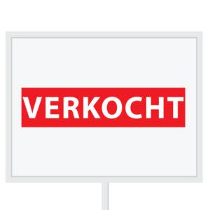 Reclameborden Totaal - makelaarsstickers - stickers voor makelaars - verkocht - rood wit