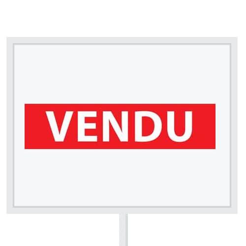 Reclameborden Totaal - makelaarsstickers - stickers voor makelaars - Vendu - wit rood
