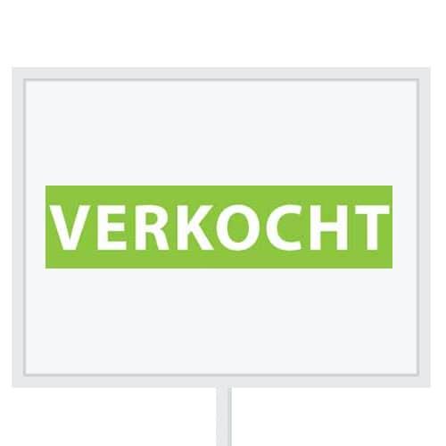 Reclameborden Totaal - makelaarsstickers - stickers voor makelaars - Verkocht - wit groen