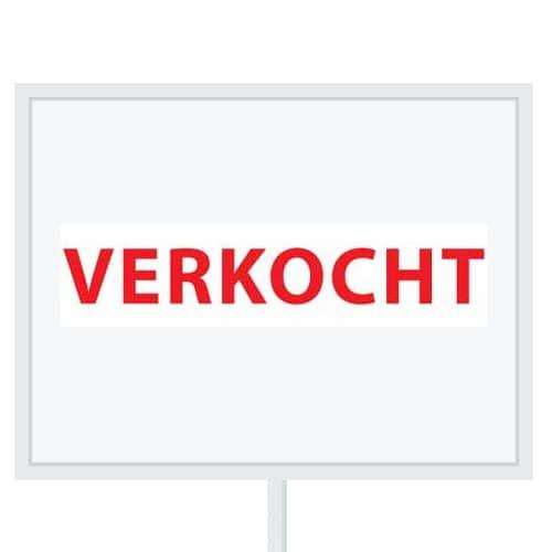 Reclameborden Totaal - makelaarsstickers - stickers voor makelaars - Verkocht - wit rood