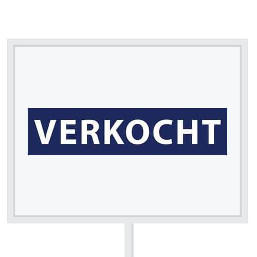 Reclameborden Totaal - makelaarsstickers - stickers voor makelaars - Verkocht - wit royal blauw