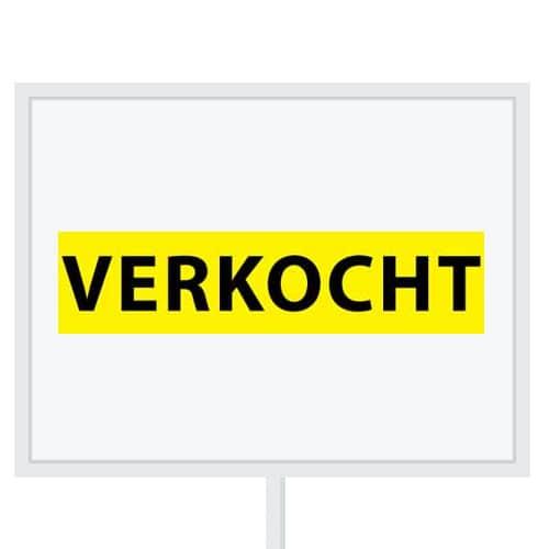 Reclameborden Totaal - makelaarsstickers - stickers voor makelaars - Verkocht - zwart geel