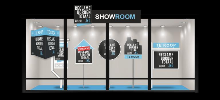 Reclameborden Totaal - makelaarsborden alles voor makelaars - showroom de beste reclame