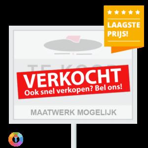 Reclameborden Totaal - verkocht stickers voor makelaars - goedkoopste verkocht stickers voor makelaars