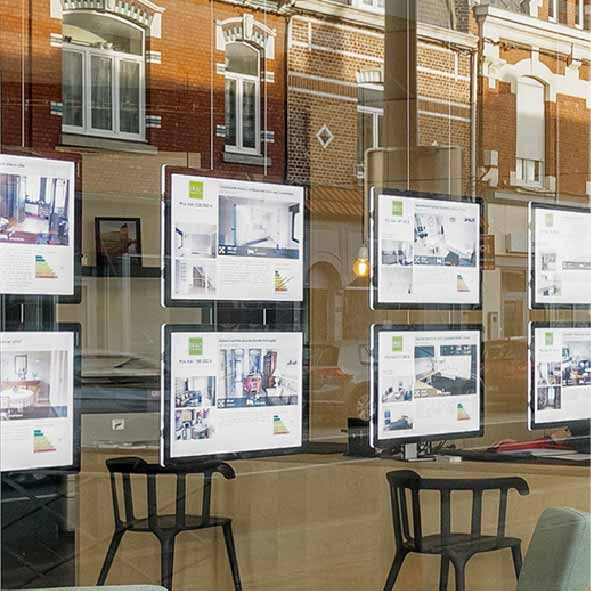 raampresentatie-vitrinemedia, raampresentatie-kabelsysteem, raampresentatie-makelaar, raampresentatie-LED, LED-displays, raampresentatie, LED-raampresentatie, raamdisplays