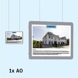 Raampresentatie-LED, LED-displays, raampresentatie a0, raamdisplays, raampresentatie-kabelsysteem a0 liggend, raampresentatie-makelaar