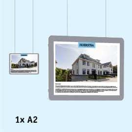 raampresentatie a2, raamdisplays, raampresentatie-kabelsysteem as liggend, raampresentatie-makelaar, Raampresentatie-LED, LED-displays